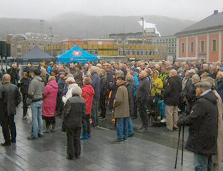 Sylvi Listhaug (Frp) holder 1.mai-appell i Drammen.
