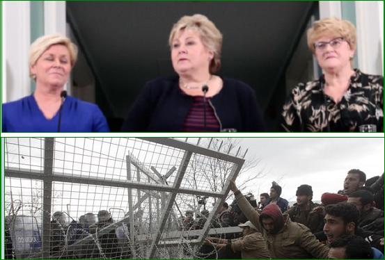 Europeisk kvotesystem for ulovlige innvandrere er nedfelt i regjeringserklæringen