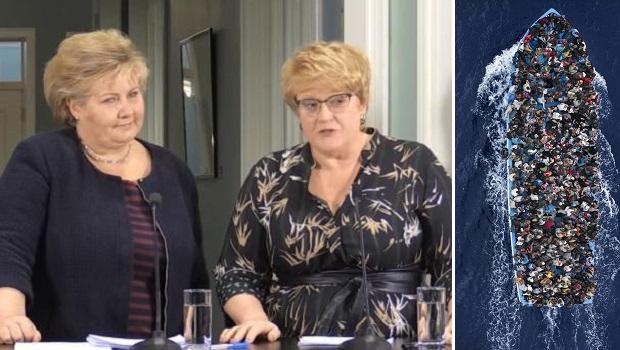 Erna og Trine vil hente ulovlige innvandrere fra Middelhavet til Norge