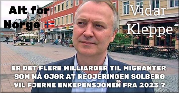 Regjeringen Solberg vil fjerne enkepensjonen